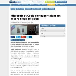 Microsoft et Cegid s'engagent dans un accord cloud to cloud