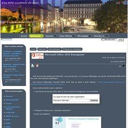 Microsoft Office 2016 Enseignant - [EPS Académie de Lyon]