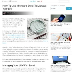 How To Use Microsoft Excel To Manage Your Life