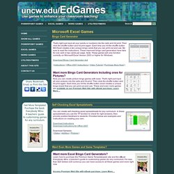 Microsoft Excel Games and Templates