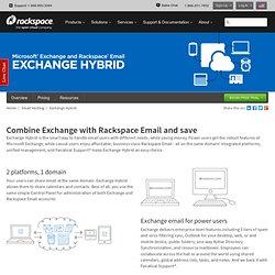 RackSpace - Exchange Hybrid Email Details