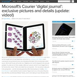 Microsoft's Courier 'digital journal': exclusive pictures and de