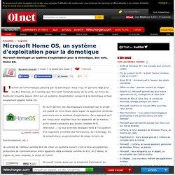 Microsoft Home OS, un système d'exploitation pour la domotique