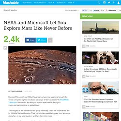 NASA and Microsoft Let You Explore Mars Like Never Before