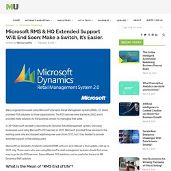 Microsoft RMS & HQ Extended Support Will End Soon: