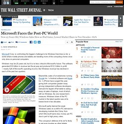 Microsoft Faces the Post-PC World