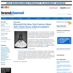 Microsoft Hits New York Fashion Week With Twitter Dress at Bloomingdale's