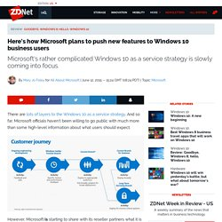 Here's how Microsoft plans to push new features to Windows 10 business users