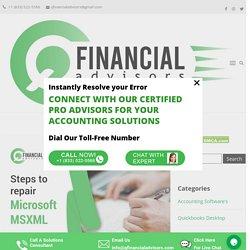 Steps to repair Microsoft MSXML - Q Financial Advisors