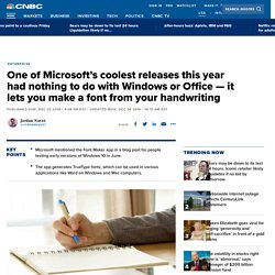 How to use Microsoft Font Maker Windows app