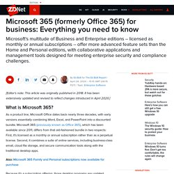 Microsoft 365 (formerly Office 365) for business: Everything you need to know