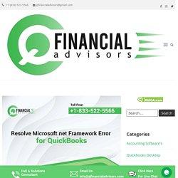 Resolve Microsoft.net Framework Error for QB - Q Financial Advisors