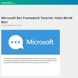 Microsoft Bot Framework Tutorial: Hello World Bot!