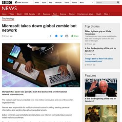 Microsoft takes down global zombie bot network