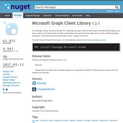 Microsoft Graph Client Library 1.2.1