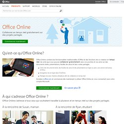 Office Online - Office gratuit : Word, Excel, PowerPoint, OneNote