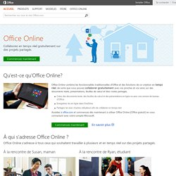 Microsoft Office Online - Office gratuit : Word, Excel, PowerPoint, OneNote