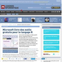 Microsoft livre des outils gratuits pour le langage R