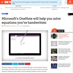 Microsoft's OneNote will help you solve equations you've handwritten