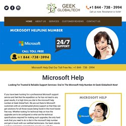 Microsoft Help Number 1-844-738-3994 for your Microsoft Help