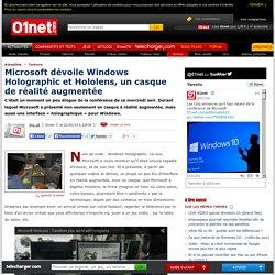 Microsoft dévoile Windows Holographic et Hololens, un casque de réalité augmentée