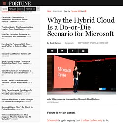 Microsoft Azure's Hybrid Cloud: Why It's a Do-or-Die Scenario