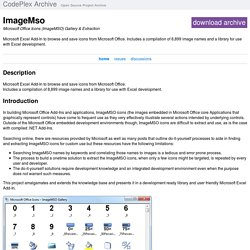 Microsoft Office Icons (ImageMSO) Gallery & Extraction - Home