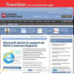 Microsoft ajoute le support de HSTS à Internet Explorer