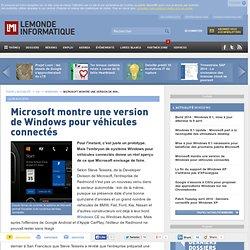 Microsoft montre une version de Windows pour véhicules connectés