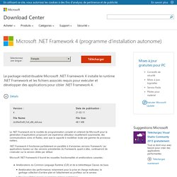 Download Microsoft .NET Framework 4 (programme d'installation autonome) from Official Microsoft Download Center
