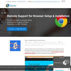 Steps to Update Microsoft Internet Explorer