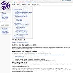 Microsoft Kinect - Microsoft SDK - Unity3D