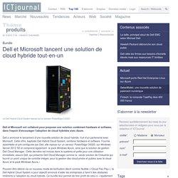 Dell et Microsoft lancent une solution de cloud hybride tout-en-un