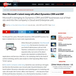 How Microsoft's latest reorg will affect Dynamics CRM and ERP