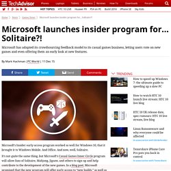 Microsoft launches insider program for… Solitaire?!…