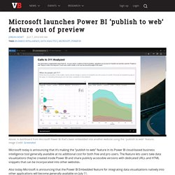 Microsoft launches Power BI 'publish to web' feature out of preview