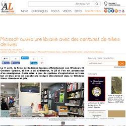 Microsoft ouvrira une librairie avec des centaines de milliers de livres