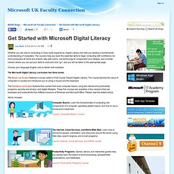 Get Started with Microsoft Digital Literacy - Microsoft UK Faculty Connection