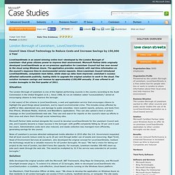 Case Study: Windows Azure - London Borough of Lewisham, LoveCleanStreets