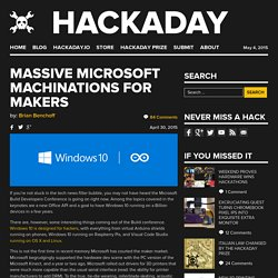 Massive Microsoft Machinations For Makers