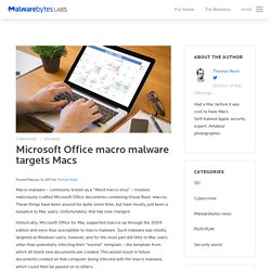 Microsoft Office macro malware targets Macs