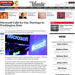 Microsoft Calls for Gay Marriage in Washington State