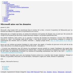 Microsoft mise sur les données