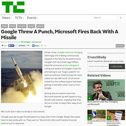 Microsoft Fires Back With A Missile