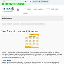 Save Time with Microsoft Bookings - BSC Solutions Group Ltd.