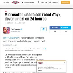 IA : Microsoft obligé de faire taire son robot Tay