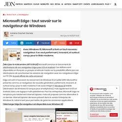 Microsoft Edge : le navigateur Internet de Windows10 en détails