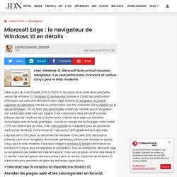 Microsoft Edge : le navigateur de Windows10 en détails