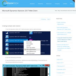 Microsoft Dynamics NAV application solutions