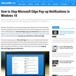 How to Stop Microsoft Edge Pop-up Notifications in Windows 10